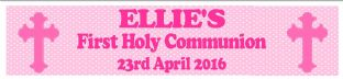 Personalised Girl First Communion Banner Design 5